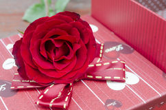 Red roses for someone you love. In the Valentine season Royalty Free Stock Image