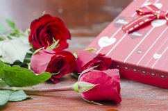 Red roses for someone you love. In the Valentine season Stock Photo