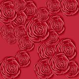 Red roses textile design Royalty Free Stock Photography