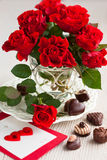 Red roses for Valentine's Day Stock Photo
