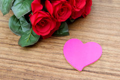 Red roses for Valentine's Day Stock Images