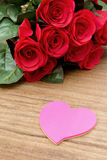Red roses for Valentine's Day Royalty Free Stock Photos