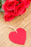 Red roses for Valentine's Day Royalty Free Stock Photography