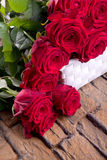 Red roses for valentines day Royalty Free Stock Images