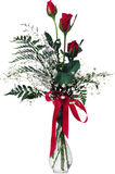 Red roses in vase. Stock Photos