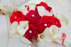 Red Roses in a Vase Royalty Free Stock Photo
