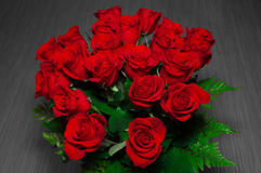 21 red roses in vase Royalty Free Stock Photography