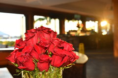 Red roses in vase Stock Image