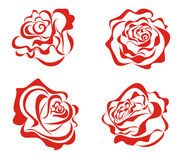 Red roses. Vector illustration  Royalty Free Stock Images
