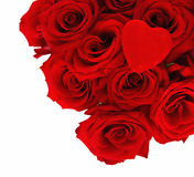 Red Roses with a Velvet Heart Stock Photography