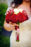 Red roses vintage bouquet Royalty Free Stock Photo