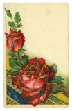Red Roses Vintage Postcard Royalty Free Stock Image