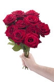 Red roses for you Stock Photos