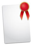 Red rosette Royalty Free Stock Image