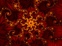 Red rosette. And gold stars Royalty Free Stock Photography