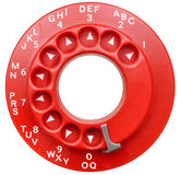 Red Rotary Telephone Dial Isolated Stock Images