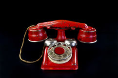 Red Rotary Telephone. Stock Images