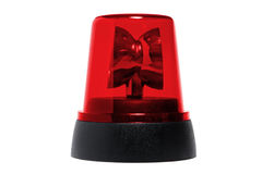 Red rotating beacon Royalty Free Stock Photography