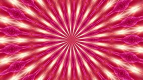 Red rotation abstract background made up of many small elements 2