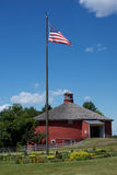 Red Round Barn Front View Royalty Free Stock Photos