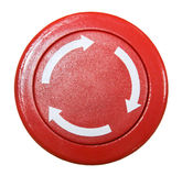 Red round button. Isolated on white background royalty free stock photo