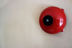 Red round call point for fire alarm royalty free stock photos
