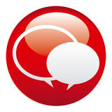 Red round chat bubbles emblem icon. Illustraction design Royalty Free Stock Image