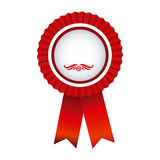 red round emblem with ribbon icon Stock Photography