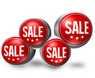 Red Round Sale Royalty Free Stock Photos
