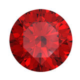 Red round shaped garnet. Isolated royalty free illustration