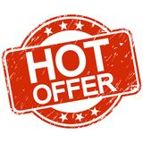 red scratched stamp hot offer Stock Images
