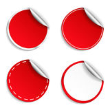 Red Round Stickers Royalty Free Stock Images