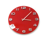 Red Round The Clock Royalty Free Stock Photography
