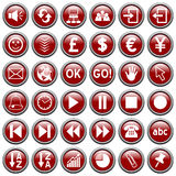 Red Round Web Buttons [3] Royalty Free Stock Photos