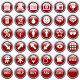 Red Round Web Buttons [4] Royalty Free Stock Images