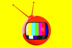 Red rounded cartoon TV Royalty Free Stock Photos