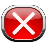 Red rounded square button - Close