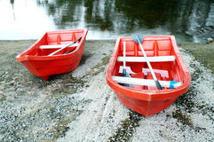 Red rowboat Stock Photography
