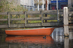 Red rowing boat Stock Photography