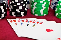 Red Royal Flush Stock Photography