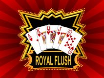 Red royal flush background Stock Photos