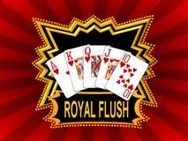 Red royal flush background Stock Photos