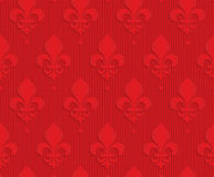 Red Royal lily on checkered background Stock Photo
