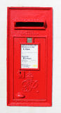 Red Royal Mail George VI wallbox Stock Image