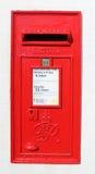 Red Royal Mail George VI wallbox Stock Image