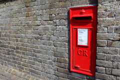 Red Royal Mail post box England Stock Images