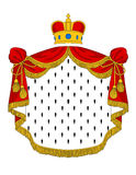 Red royal mantle. With heraldic elements for luxury design Stock Photo