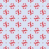 Red royal pattern. The Seamless vector background stock illustration
