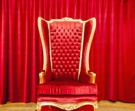 Red royal throne Royalty Free Stock Photography
