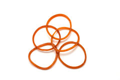 Red Rubber Band on white Stock Photography